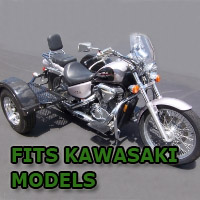 Outlaw Series Scooter Trike Kit - Fits All Kawasaki Models