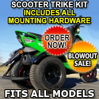 Rec Scooter Trike Kit - Fits All Models Great for Scooters & Mopeds