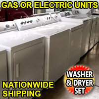 Reconditioned Top Load Washer & Dryer Set Combo Electric or Gas Units