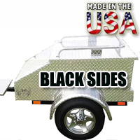 "Motorcycle/Car Pull Behind Trailer 48"" X 28"" X 19"" Aluminum Black Plate Enclosed Motorcycle / Car Trailer"