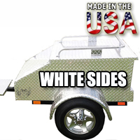 "Motorcycle/Car Pull Behind Trailer 48"" X 28"" X 19"" Aluminum White Plate Enclosed Motorcycle / Car Trailer"