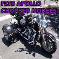 Outlaw Series Motorcycle Trike Kit - Fits All Apollo Chopper Models