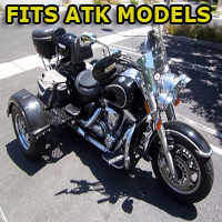 Outlaw Series Motorcycle Trike Kit - Fits All ATK Models