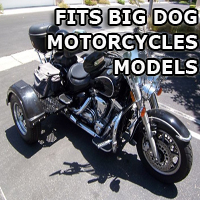 Outlaw Series Motorcycle Trike Kit - Fits All Big Dog Motorcycles Models
