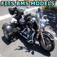 Outlaw Series Motorcycle Trike Kit - Fits All BMS Models