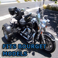 Outlaw Series Motorcycle Trike Kit - Fits All Bourget Models