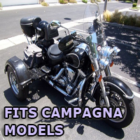 Outlaw Series Motorcycle Trike Kit - Fits All Campagna Models
