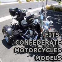 Outlaw Series Motorcycle Trike Kit - Fits All Confederate Motorcycles Models