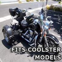Outlaw Series Motorcycle Trike Kit - Fits All Coolster Models