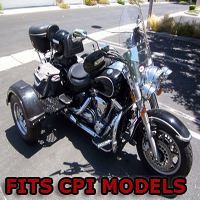 Outlaw Series Motorcycle Trike Kit - Fits All CPI Models