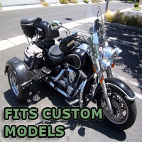 Outlaw Series Motorcycle Trike Kit - Fits All Custom Models