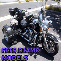 Outlaw Series Motorcycle Trike Kit - Fits All Diamo Models