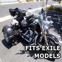 Outlaw Series Motorcycle Trike Kit - Fits All Exile Models