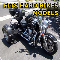 Outlaw Series Motorcycle Trike Kit - Fits All Hard-Bikes Models