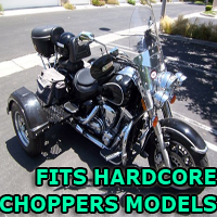Outlaw Series Motorcycle Trike Kit - Fits All Hardcore Choppers Models