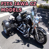 Outlaw Series Motorcycle Trike Kit - Fits All Jawa CZ Models