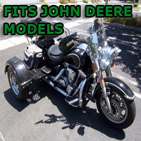 Outlaw Series Motorcycle Trike Kit - Fits All John Deere Models