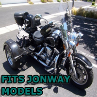 Outlaw Series Motorcycle Trike Kit - Fits All Jonway Models