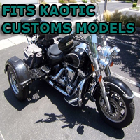 Outlaw Series Motorcycle Trike Kit - Fits All Kaotic Customs Models