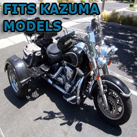 Outlaw Series Motorcycle Trike Kit - Fits All Kazuma Models