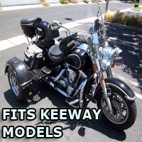 Outlaw Series Motorcycle Trike Kit - Fits All Keeway Models
