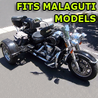 Outlaw Series Motorcycle Trike Kit - Fits All Malaguti Models