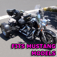 Outlaw Series Motorcycle Trike Kit - Fits All Mustang Models