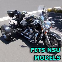 Outlaw Series Motorcycle Trike Kit - Fits All NSU Models