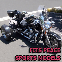 Outlaw Series Motorcycle Trike Kit - Fits All Peace Sports Models