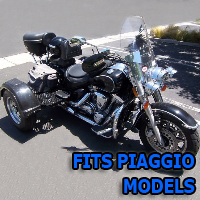 Outlaw Series Motorcycle Trike Kit - Fits All Piaggio Models