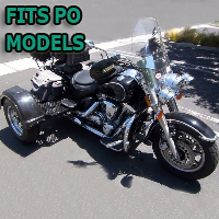 Outlaw Series Motorcycle Trike Kit - Fits All Po Models