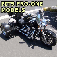 Outlaw Series Motorcycle Trike Kit - Fits All Pro-One Models