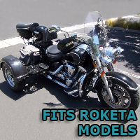 Outlaw Series Motorcycle Trike Kit - Fits All Roketa Models