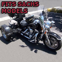 Outlaw Series Motorcycle Trike Kit - Fits All Sachs Models