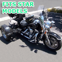 Outlaw Series Motorcycle Trike Kit - Fits All Star Motorcycles Models