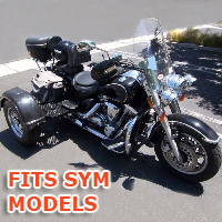 Outlaw Series Motorcycle Trike Kit - Fits All SYM Models
