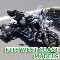 Outlaw Series Motorcycle Trike Kit - Fits All West Coast Models