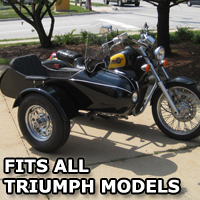Classical RocketTeer Side Car Motorcycle Sidecar Kit - Triumph Models