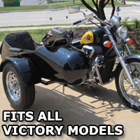 Standard RocketTeer Side Car Motorcycle Sidecar Kit - Victory Models