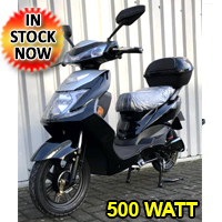 500 Watt Wizzer Electric Motor Scooter Moped - YW