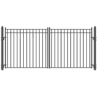 Madrid Style Swing Dual Steel Driveway Gates 12' X 6 1/4'