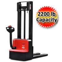 A Series Pallet Stacker Mini Range 2,200 lb. Capacity Pallet Truck - Double Column