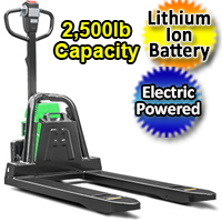 Electric Powered Pallet Jack - Lithium Ion Motorized 2,500 lb. Capacity Pallet Truck - AW12Li