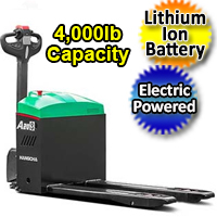 Electric Powered Pallet Jack - Lithium Ion Motorized 4,000 lb. Capacity Pallet Truck - AW20Li