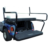 Smooth Black 4 Passenger Flip-Flop Golf Cart Seat Kit