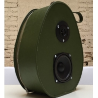 Boom Box Boom Suit Case Avocado Hatbox Speaker Traincase Rechargeable Bluetooth Suitcase