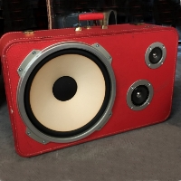Boom Box Boom Suit Case Big Tex Lone Star Speaker Traincase Rechargeable Bluetooth Suitcase