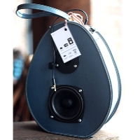 Boom Box Boom Suit Case Blue Hatbox Speaker Traincase Rechargeable Bluetooth Suitcase