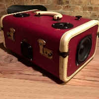 Boom Box Boom Suit Case Classic Red Speaker Traincase Rechargeable Bluetooth Suitcase
