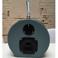 Boom Box Boom Suit Case Teal Hatbox Speaker Traincase Rechargeable Bluetooth Suitcase